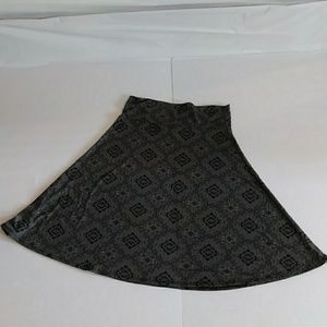 Lularoe Azure Black Skirt Medium